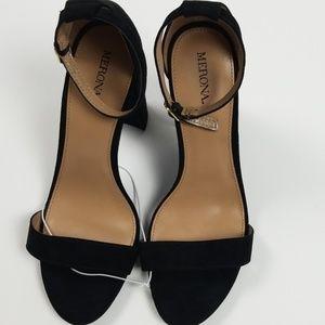 Merona faux suede heeled sandal Size 9.5